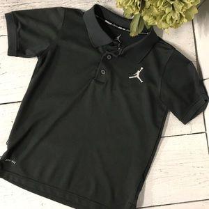 Boy's Jordan Grey Polo Shirt Size S